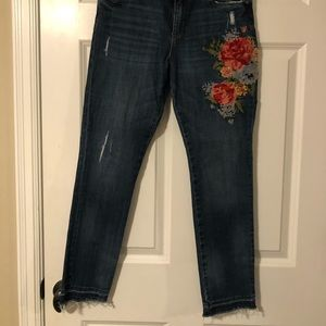 Kut from the Klot embroidered jeans